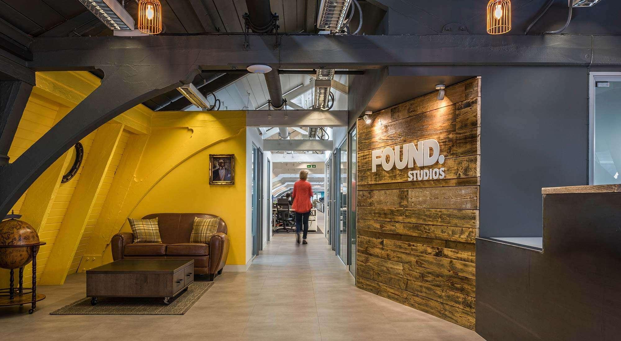 london office industrial reception area