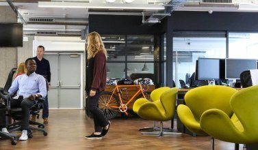 London Office Open Plan Office With Industrial Features