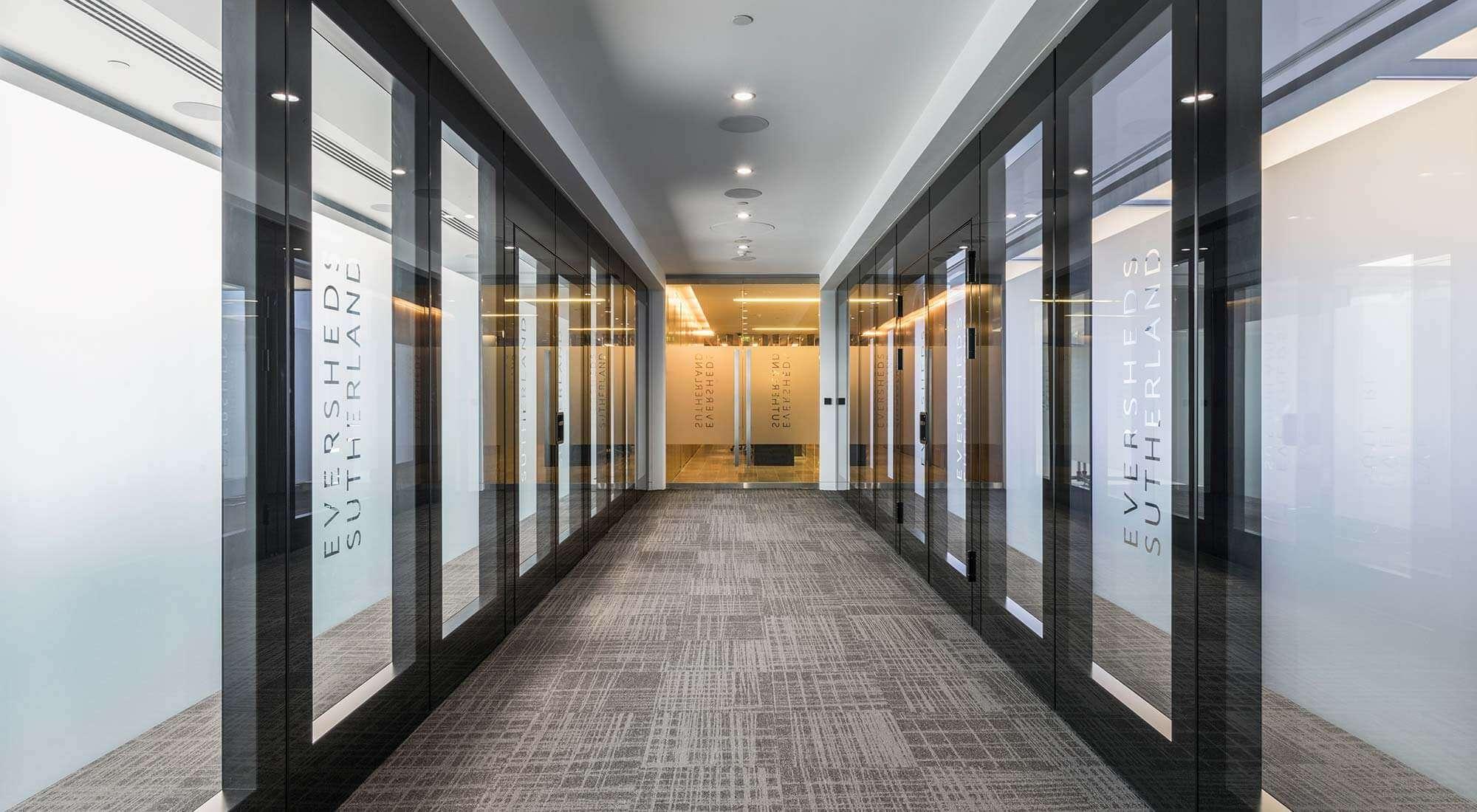 london hq corridor sliding folding moving walls glass