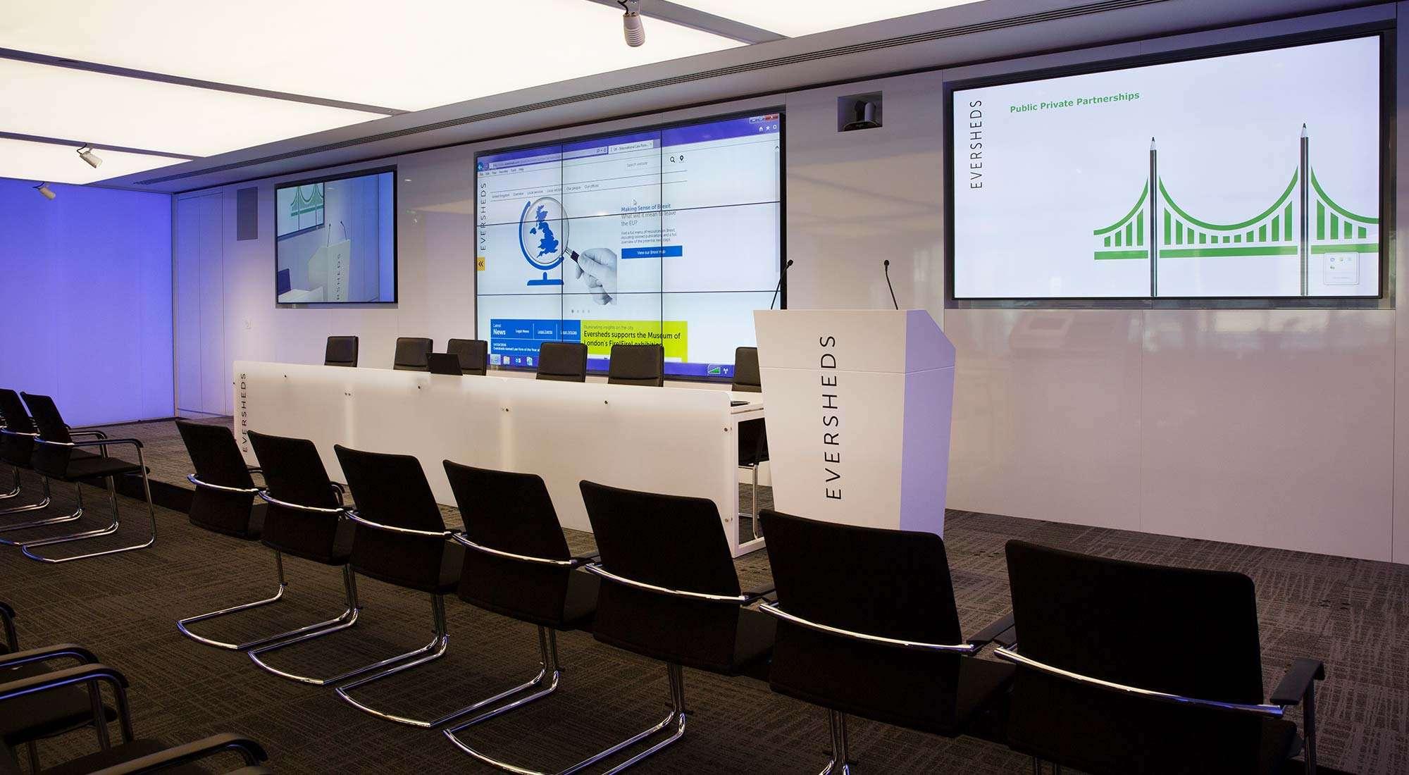 london hq auditorium feature lighting raft