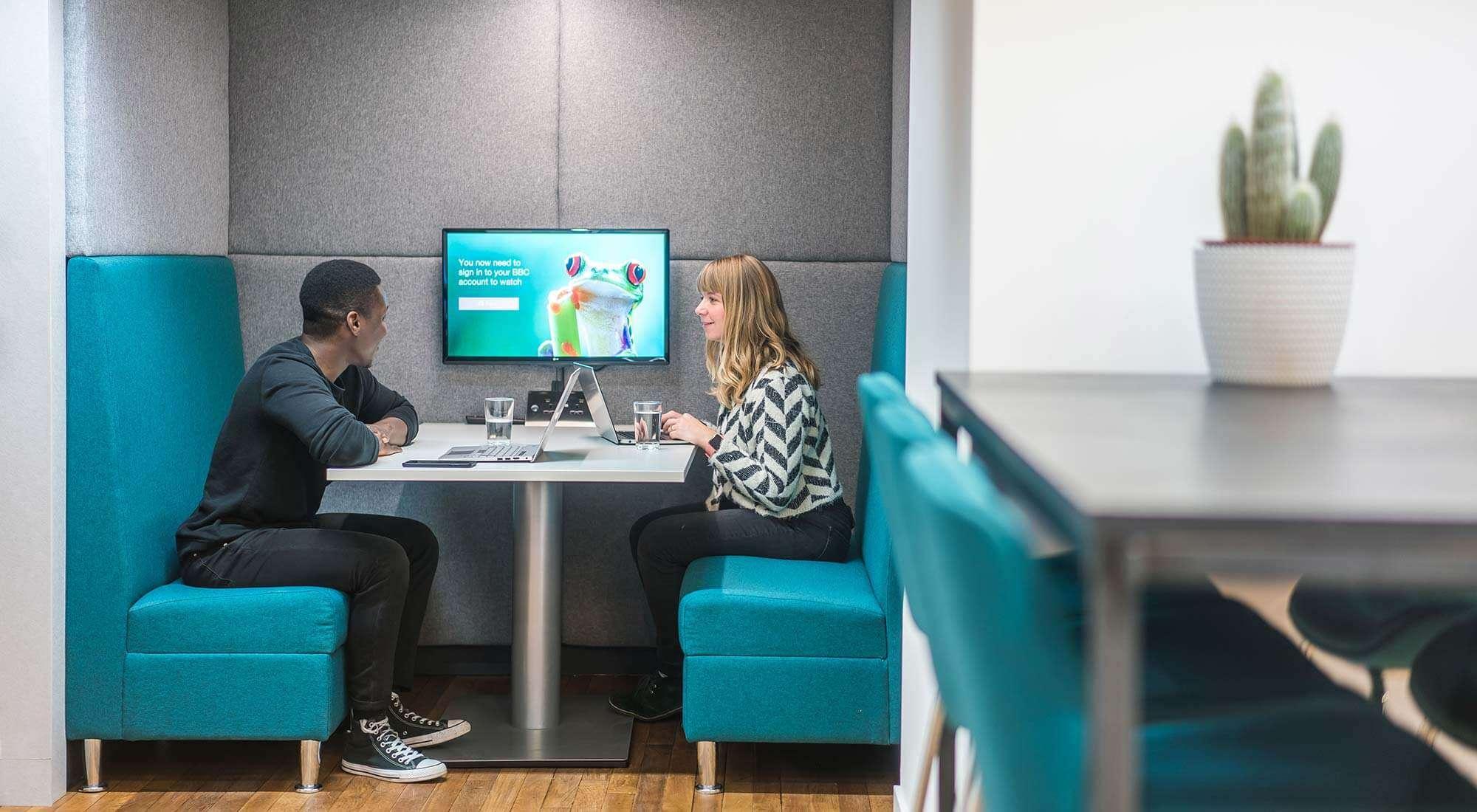 Booths Informal Meeting Interior Office Design