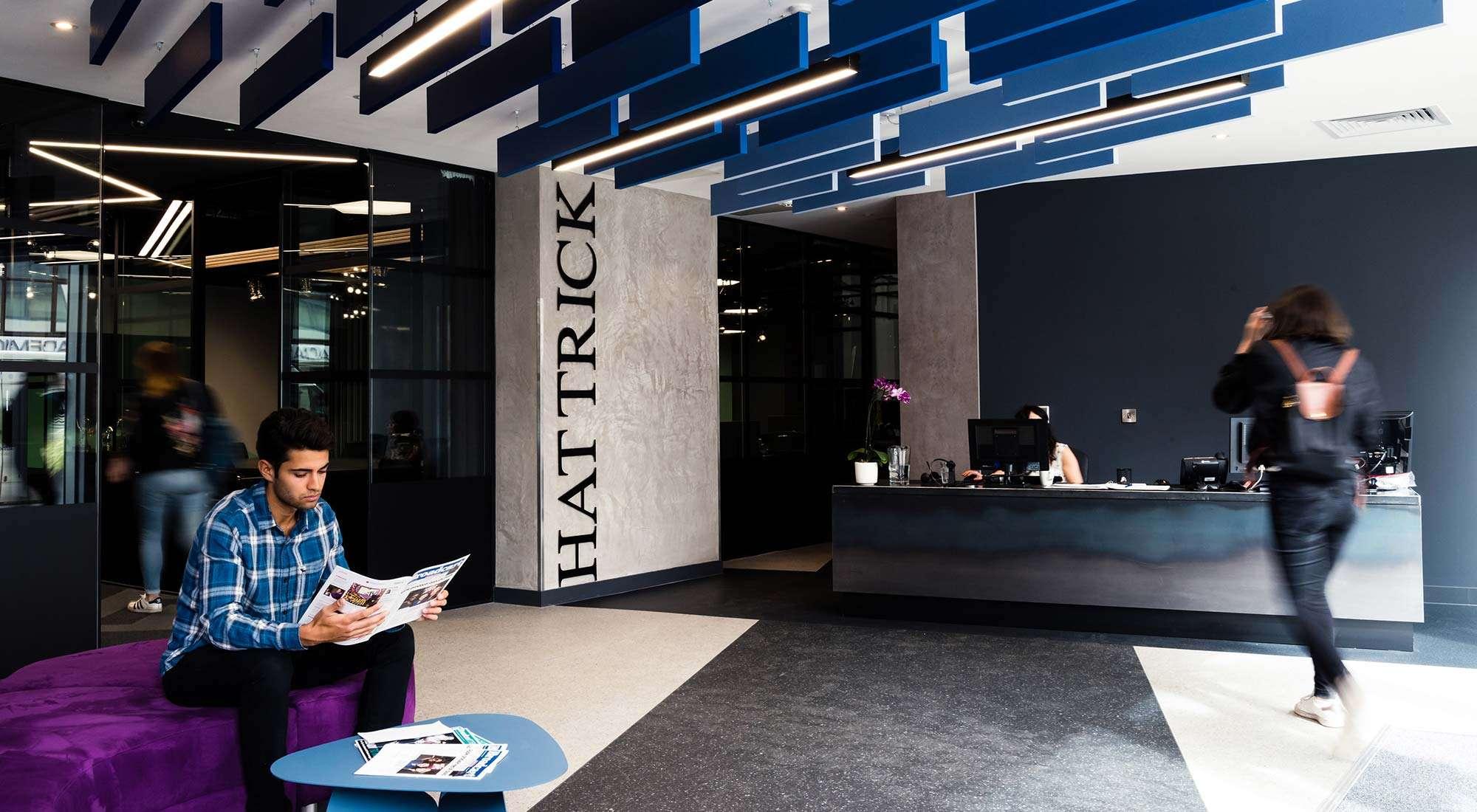 london office reception desk design