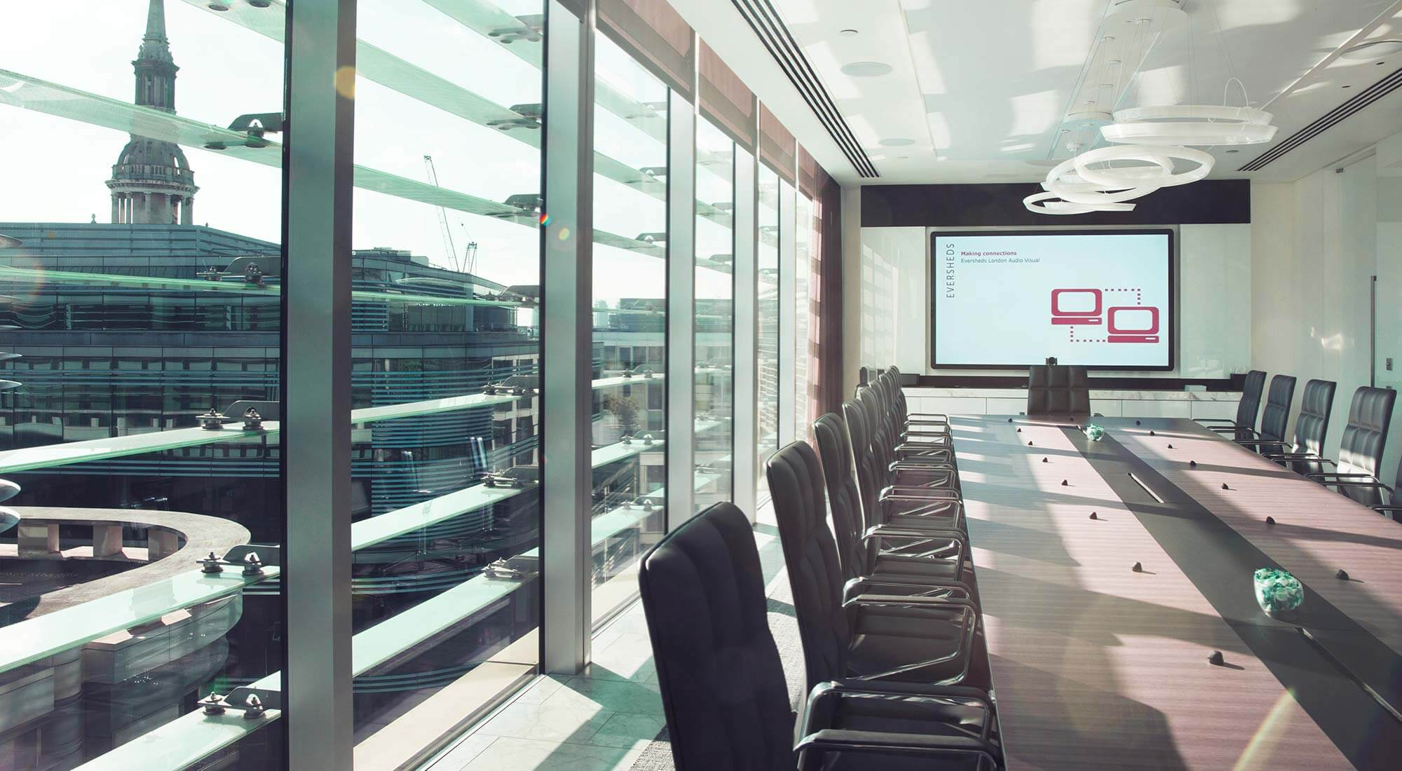 london hq boardroom view st pauls bespoke table