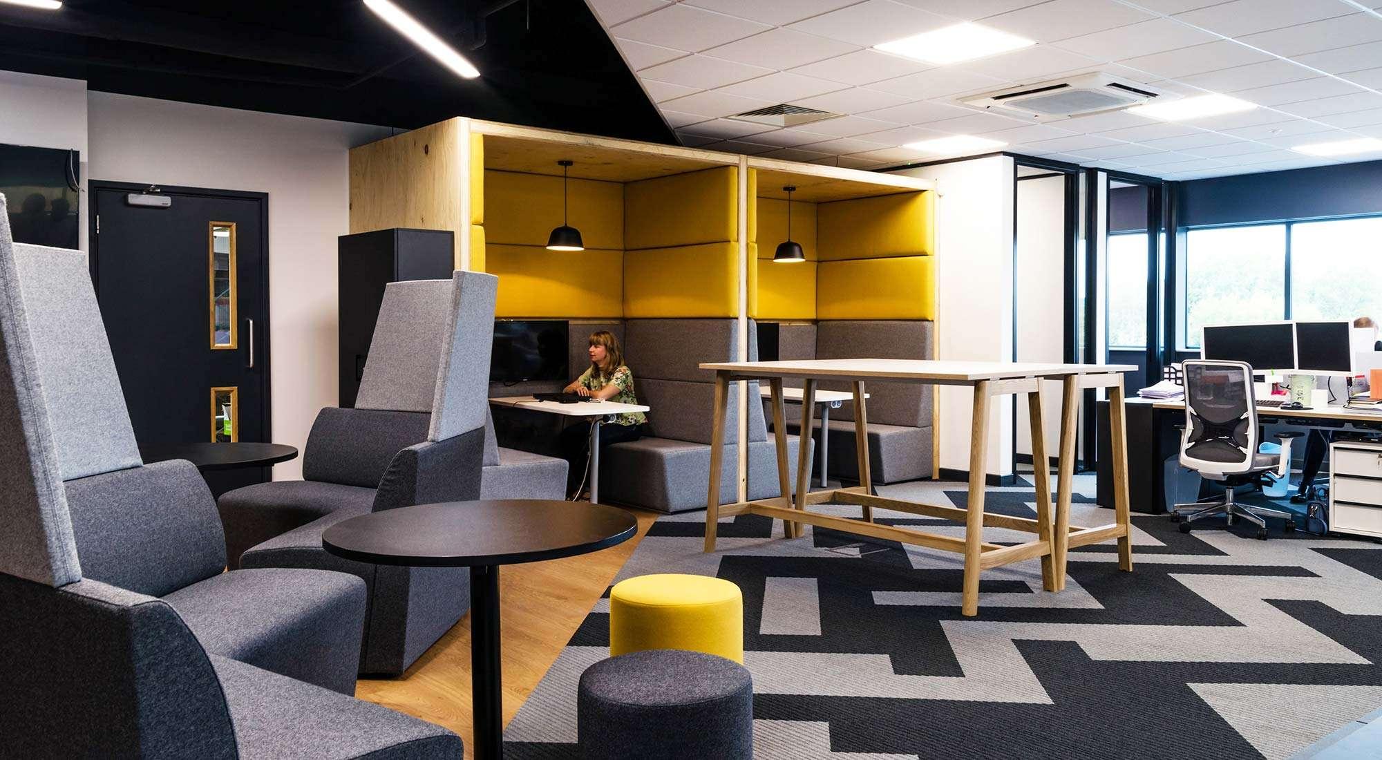 Desso Tarkett Carpet Orangebox Booths Bespoke Interior Office Design