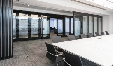London Hq Auditorium Breakout Room With Sliding Moving Walls