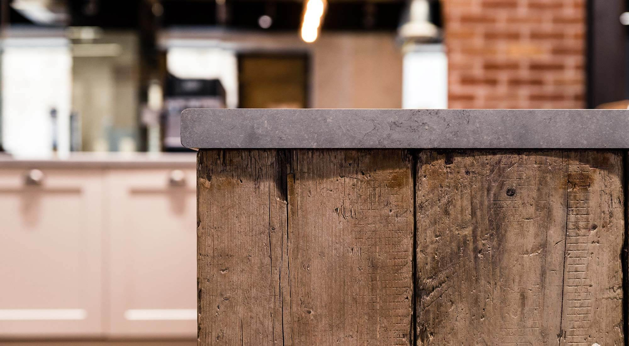 london office concrete breakfast bar