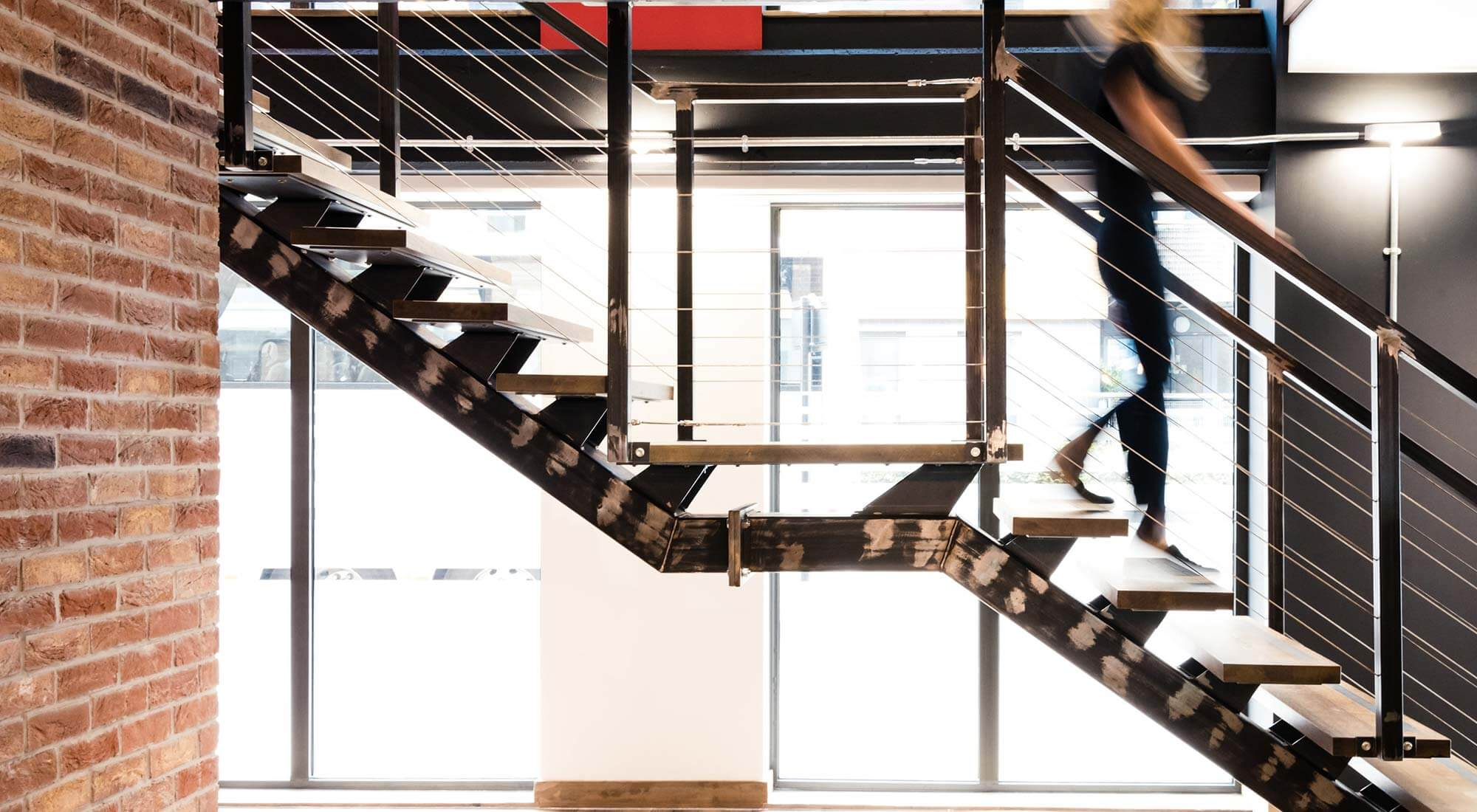 london office design industrial staircase