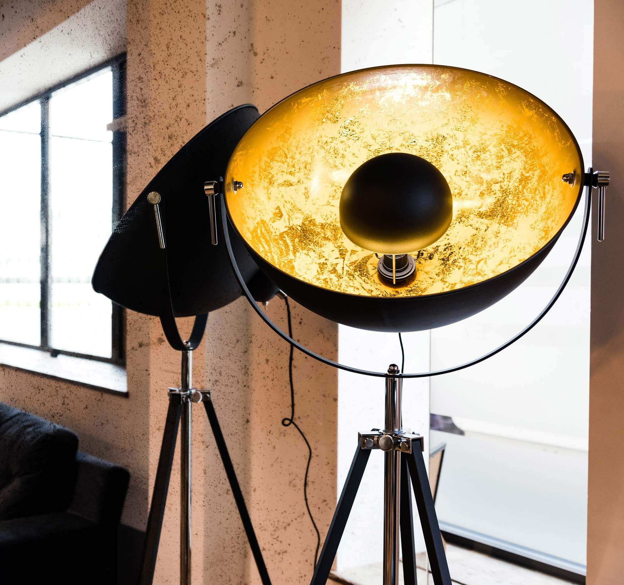 london office industrial floor lamp