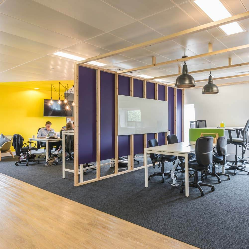 london office informal meeting timber pod
