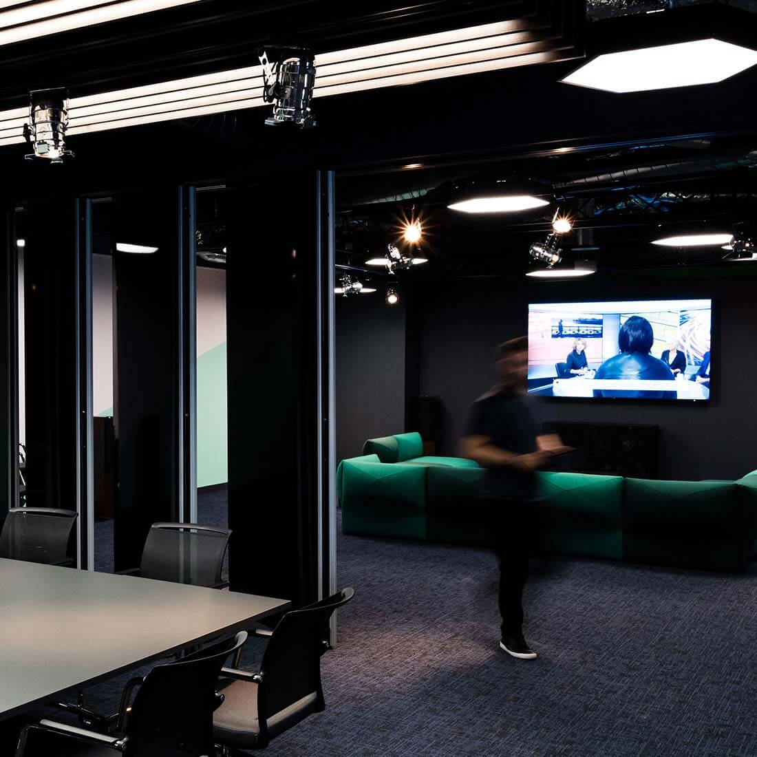 london office boardroom folding wall