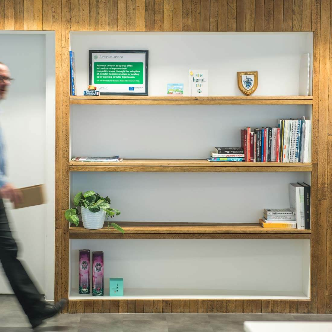 Reclaimed Timber Office Fitout Concrete