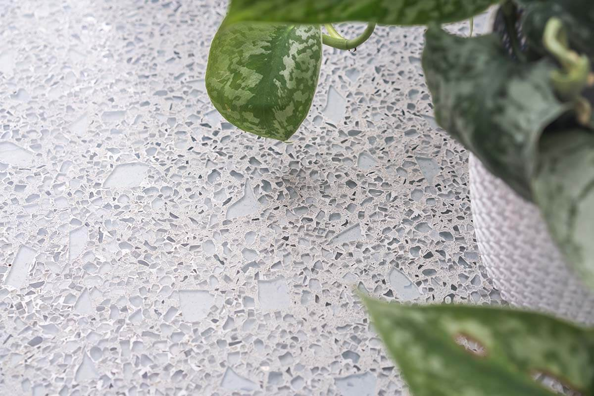 Recycled Glass Ubnrok Worktop Sustainable Office Design