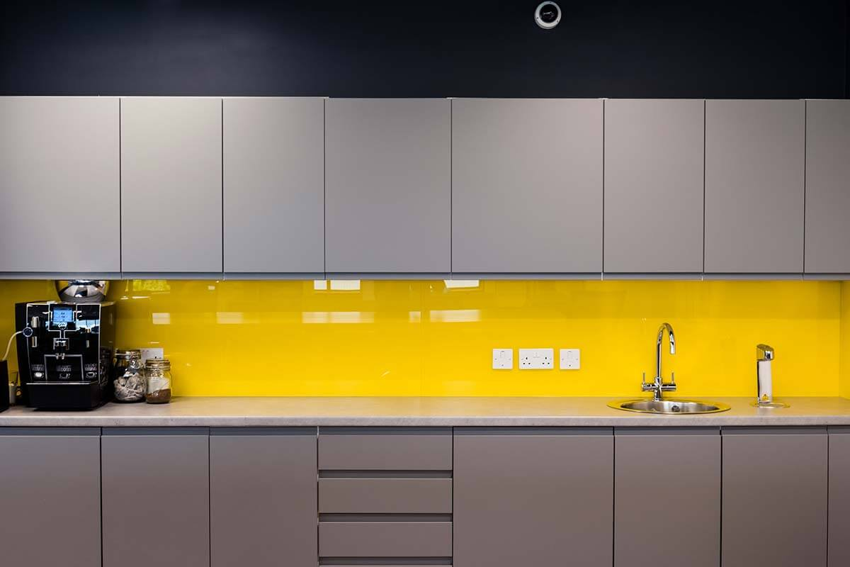 Teapoint Colourback Glass Interior Design Fitout Office
