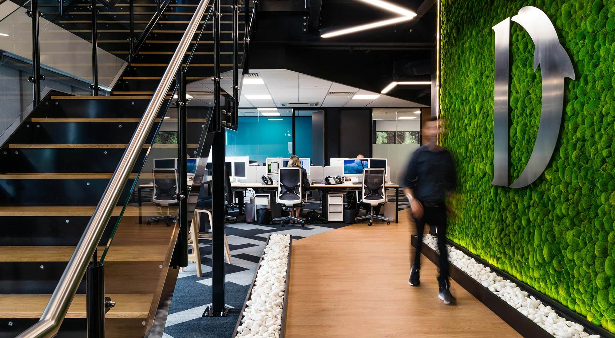 Walkway Moss Lighting Office Design Build Fitout