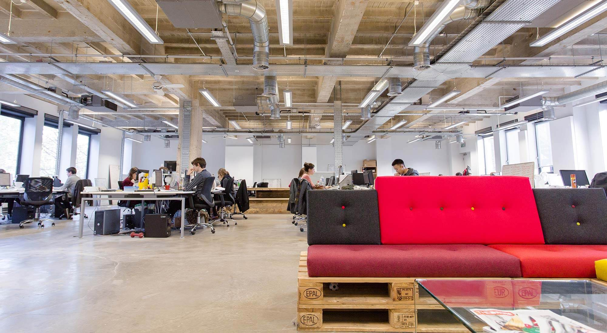 Workplace design and interiors