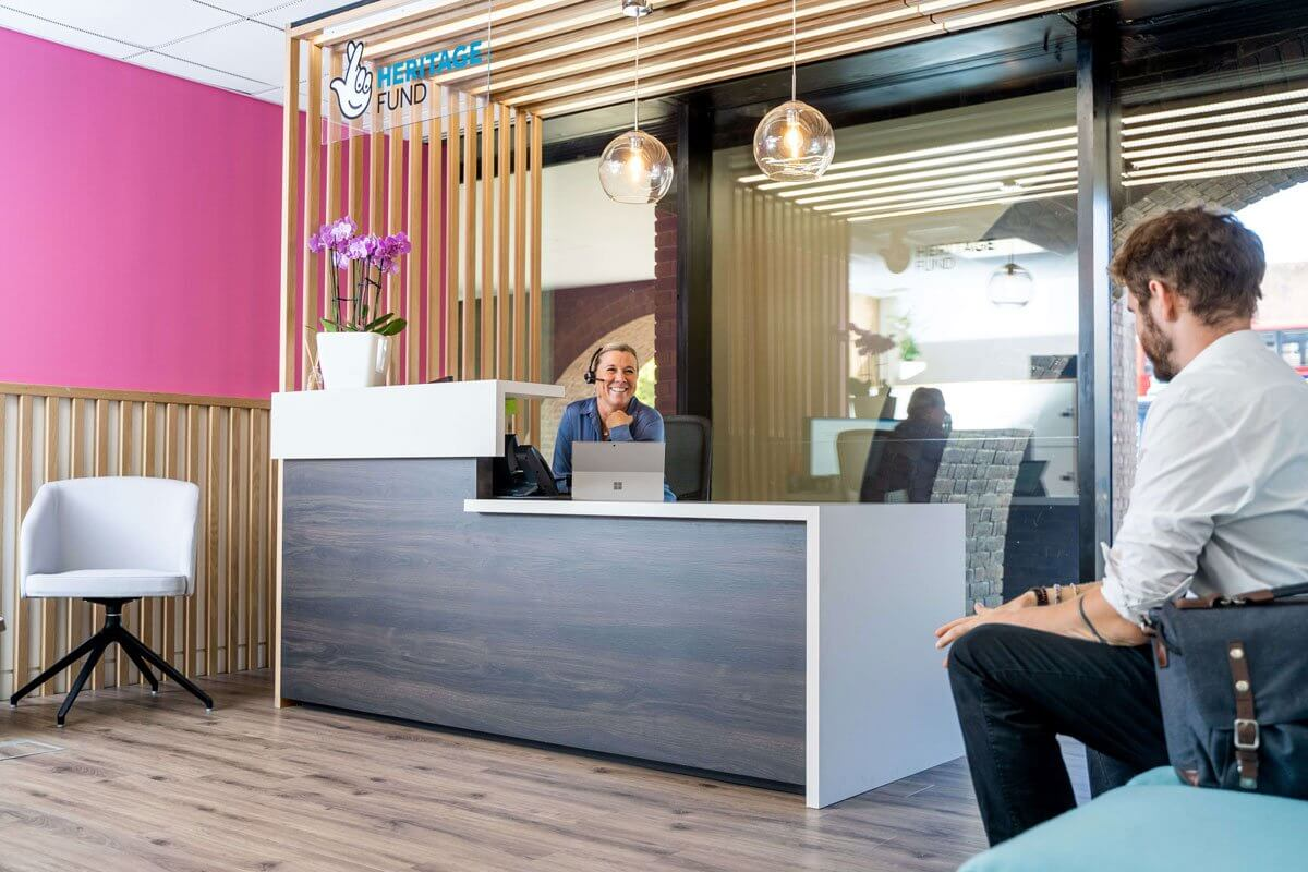 New Reception Design And Build For National Lottery