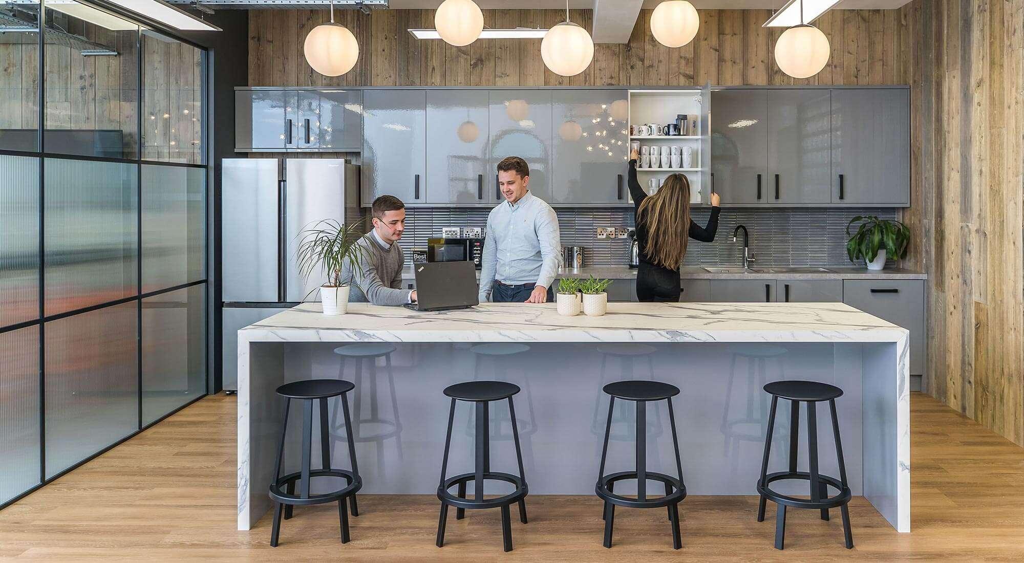London Fitout Kitchen Area