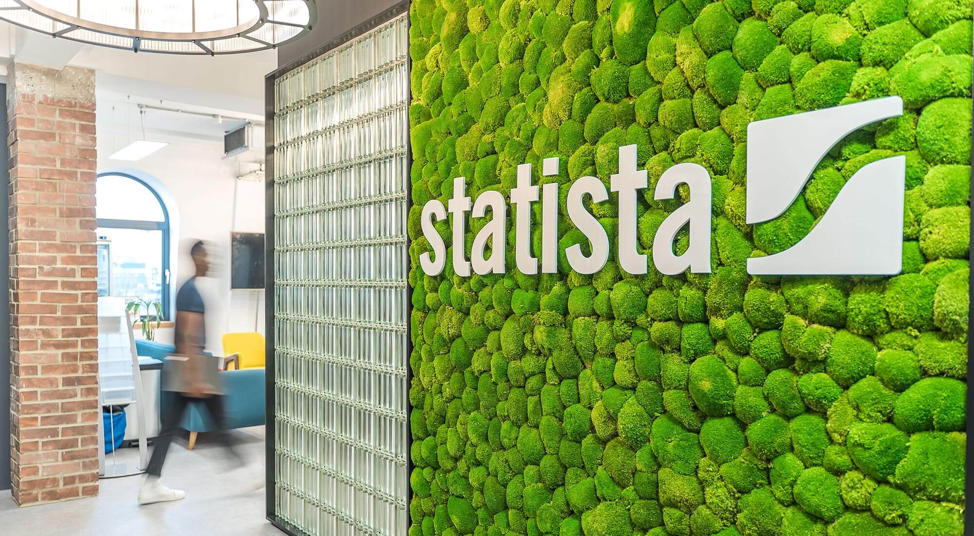 Interior Design Moss Wall - office design and fit out