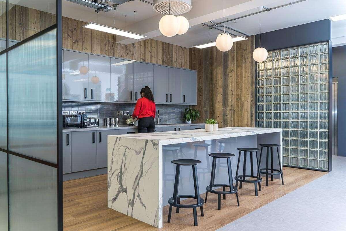 Office Kitchen Breakout Area Marble
