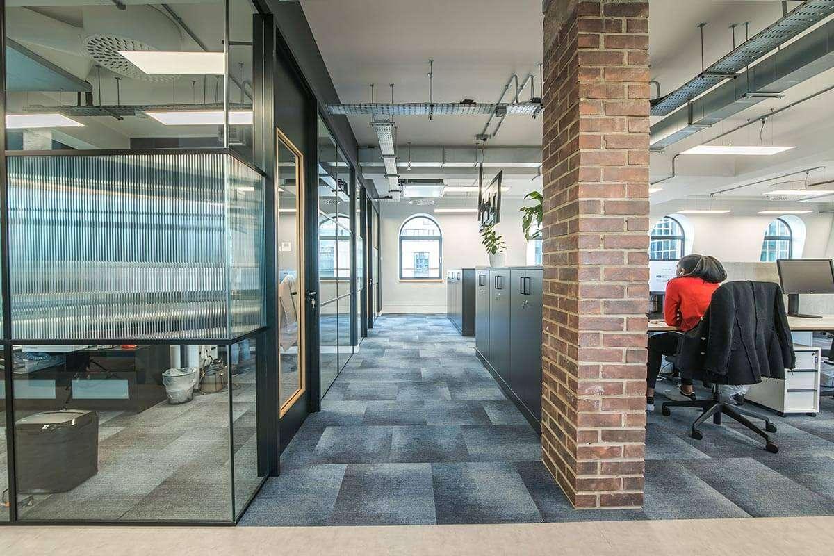 Office Interior Design Brick Column