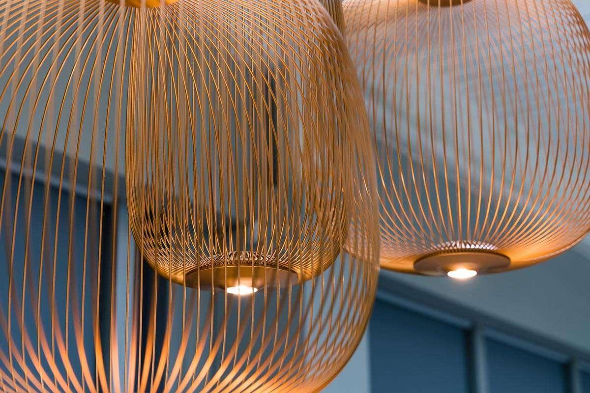 office design with Foscarini Copper Pendant London