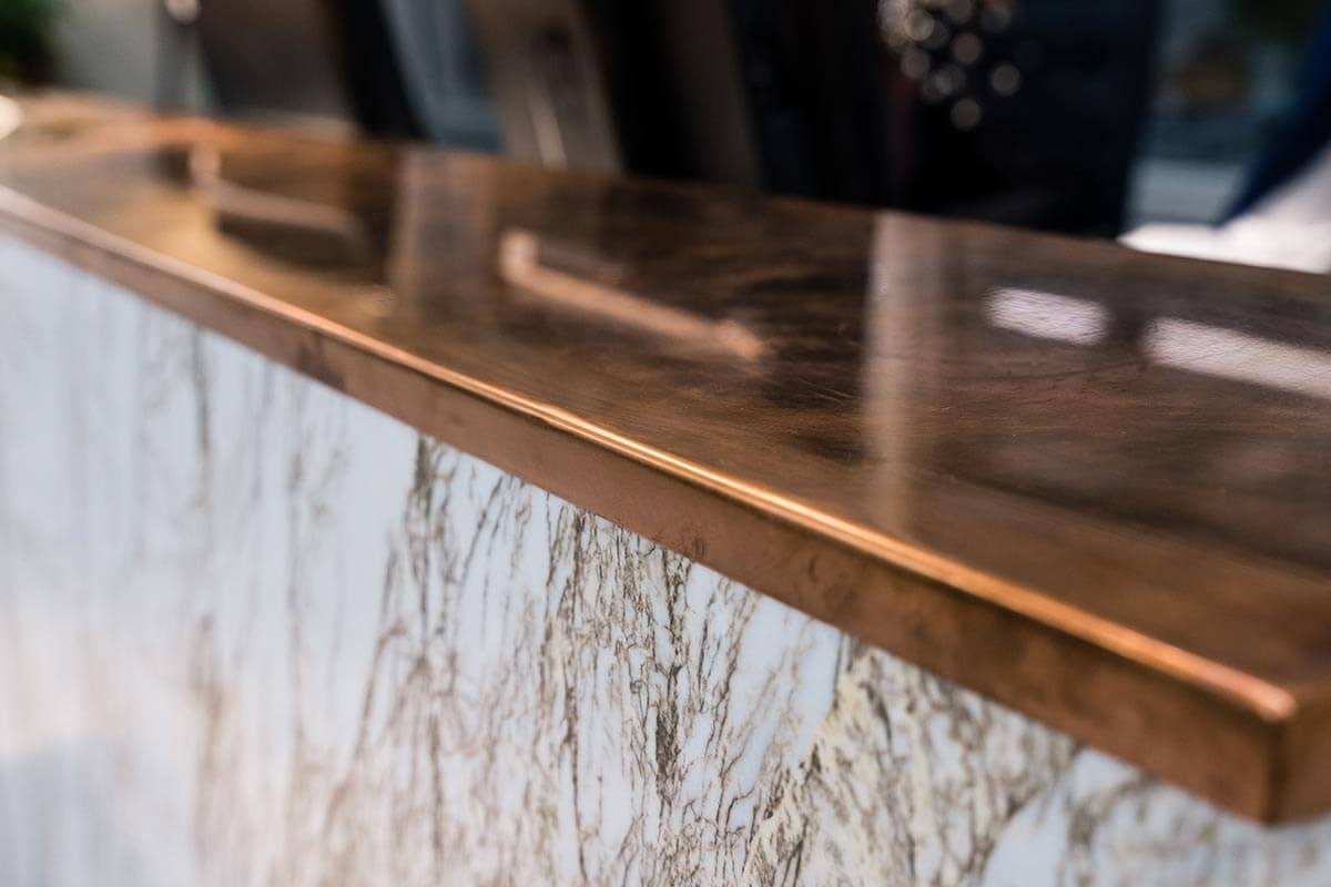 Office furniture and design with Marble Copper Desk