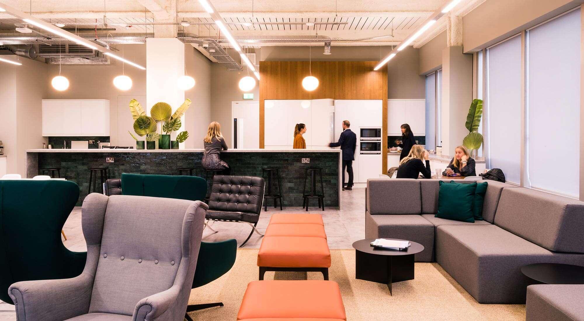 New office design with Kitchen Lounge Foscarini